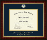 University of West Florida Diploma Frame - Masterpiece Medallion Diploma Frame in Murano