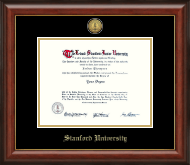 Stanford University Diploma Frame - Gold Engraved Medallion Diploma Frame in Lancaster