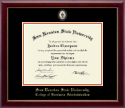 Sam Houston State University Diploma Frame - Masterpiece Medallion Diploma Frame in Gallery