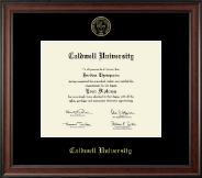 Caldwell University Diploma Frame - Gold Embossed Diploma Frame in Studio