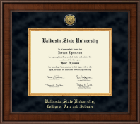 Valdosta State University Diploma Frame - Presidential Gold Engraved Diploma Frame in Madison