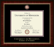 University of Minnesota Twin Cities Diploma Frame - Masterpiece Medallion Diploma Frame in Murano