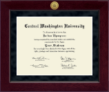Central Washington University Diploma Frame - Millennium Gold Engraved Medallion Diploma Frame in Cordova