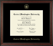 Central Washington University Diploma Frame - Gold Embossed Diploma Frame in Studio