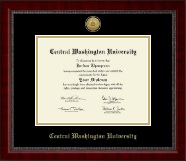 Central Washington University Diploma Frame - Gold Engraved Medallion Diploma Frame in Sutton