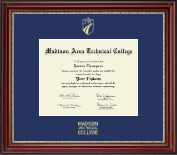 Madison Area Technical College Diploma Frame - Gold Embossed Diploma Frame in Kensington Gold