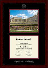 Chapman University Diploma Frame - Campus Scene Diploma Frame in Sutton