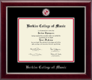 Berklee College of Music Diploma Frame - Masterpiece Medallion Diploma Frame in Gallery Silver