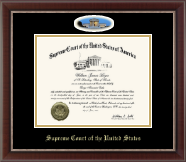 Supreme Court of the United States Certificate Frame - Campus Cameo Certificate Frame in Chateau