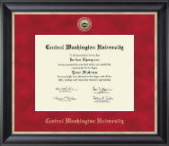 Central Washington University Diploma Frame - Regal Edition Diploma Frame in Noir