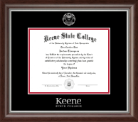 Keene State College Diploma Frame - Silver Embossed Diploma Frame in Devonshire