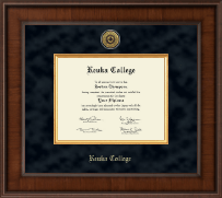 Keuka College Diploma Frame - Presidential Gold Engraved Diploma Frame in Madison