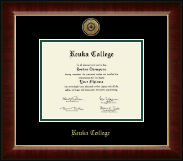 Keuka College Diploma Frame - Gold Engraved Medallion Diploma Frame in Murano