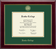 Keuka College Diploma Frame - Gold Embossed Diploma Frame in Gallery