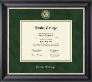 Keuka College Diploma Frame - Gold Embossed Diploma Frame in Noir