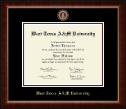 West Texas A&M University Diploma Frame - Masterpiece Medallion Diploma Frame in Murano