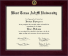 West Texas A&M University Diploma Frame - Century Gold Engraved Diploma Frame in Cordova