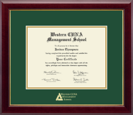 Western CUNA Management School Certificate Frame - Gold Embossed Certificate Frame in Gallery