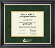 Western CUNA Management School Certificate Frame - Gold Embossed Certificate Frame in Noir