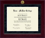 Lees-McRae College Diploma Frame - Millennium Gold Engraved Diploma Frame in Cordova