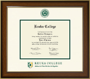 Keuka College Diploma Frame - Dimensions Diploma Frame in Westwood