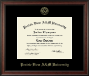 Prairie View A&M University Diploma Frame - Gold Embossed Diploma Frame in Studio