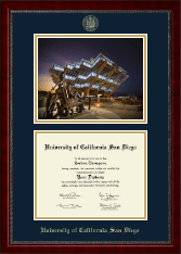 University of California San Diego Diploma Frame - Campus Scene Diploma Frame in Sutton