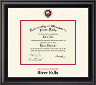 University of Wisconsin River Falls Diploma Frame - Dimensions Diploma Frame in Midnight