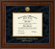 University of Wisconsin River Falls Diploma Frame - Presidential Gold Engraved Diploma Frame in Madison