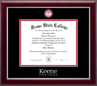 Keene State College Diploma Frame - Masterpiece Medallion Diploma Frame in Gallery Silver