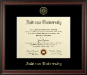 Indiana University Northwest Diploma Frame - Gold Embossed Diploma Frame in Studio