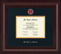 St. John's School - Houston, Texas Diploma Frame - Presidential Masterpiece Diploma Frame in Premier