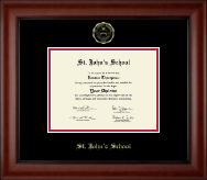 St. John's School - Houston, Texas Diploma Frame - Gold Embossed Diploma Frame in Cambridge