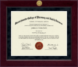 Massachusetts College of Pharmacy & Health Sciences Diploma Frame - Millennium Gold Engraved Diploma Frame in Cordova