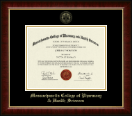 Massachusetts College of Pharmacy & Health Sciences Diploma Frame - Gold Embossed Diploma Frame in Murano