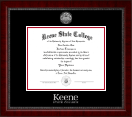 Keene State College Diploma Frame - Silver Engraved Medallion Diploma Frame in Sutton