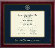 Concordia University in Nebraska Diploma Frame - Gold Embossed Diploma Frame in Gallery