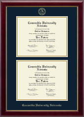Concordia University in Nebraska Diploma Frame - Double Diploma Frame in Gallery