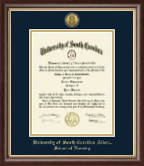 University of South Carolina Aiken Diploma Frame - Gold Engraved Medallion Diploma Frame in Hampshire