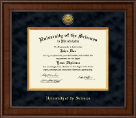 University of the Sciences in Philadelphia Diploma Frame - Presidential Gold Engraved Diploma Frame in Madison