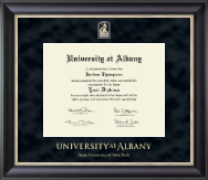 University at Albany State University of New York Diploma Frame - Regal Edition Diploma Frame in Noir