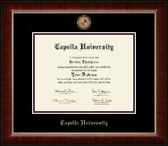 Capella University Diploma Frame - Masterpiece Medallion Diploma Frame in Murano