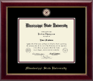 Mississippi State University Diploma Frame - Masterpiece Medallion Diploma Frame in Gallery