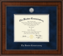 The Boston Conservatory at Berklee Diploma Frame - Presidential Silver Engraved Diploma Frame in Madison