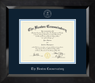 The Boston Conservatory at Berklee Diploma Frame - Silver Embossed Diploma Frame in Eclipse