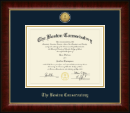 The Boston Conservatory at Berklee Diploma Frame - Gold Engraved Medallion Diploma Frame in Murano