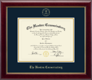 The Boston Conservatory at Berklee Diploma Frame - Gold Embossed Diploma Frame in Gallery
