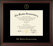 The Boston Conservatory at Berklee Diploma Frame - Gold Embossed Diploma Frame in Studio