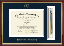 The Boston Conservatory at Berklee Diploma Frame - Tassel Edition Diploma Frame in Southport Gold