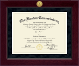 The Boston Conservatory at Berklee Diploma Frame - Millennium Gold Engraved Diploma Frame in Cordova